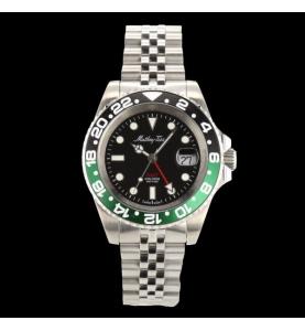 Mathey Tissot GMT Noire Verte  42mm