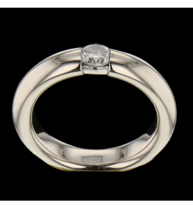 SOLITAIRE RING GREY GOLD
