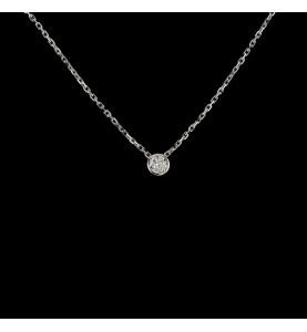DIAMOND SOLITAIRE NECKLACE 0.06 CARATS