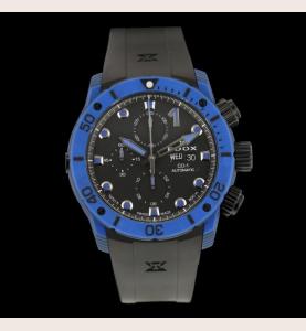 Edox CO-1 Blue Carbon Chronograph Automatic