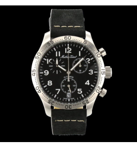 Flyback Type 21 42mm Leather Black