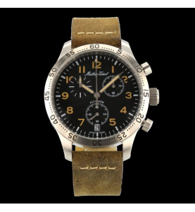 Flyback Type 21 42mm Brown Leather