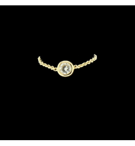 """Bague fil Style """"Dior"""" 0.20 Cts"""