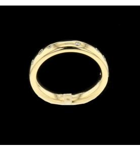 Yellow Gold Ring 10 Diamonds
