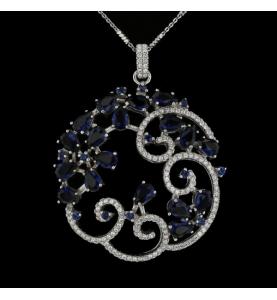 Collier Arabesque Silber