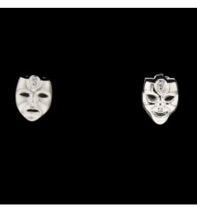 Venetian Masks Gold Grey Diamonds