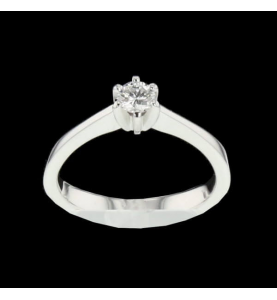 Solitaire Or gris 0.25 Carats