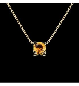 """Cartier Necklace Double """"C"""" citrine"""