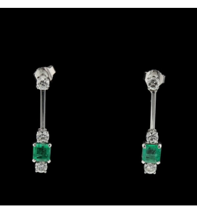 Création Boucles Emeraudes Diamants