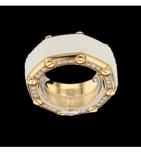 Audemars Piguet Royal Oak ring in rose gold and diamonds