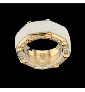 Audemars Ring Piguet Royal Oak aus Roségold und Diamanten
