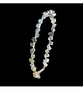 Bracelet Semi Precious Stones Diamonds