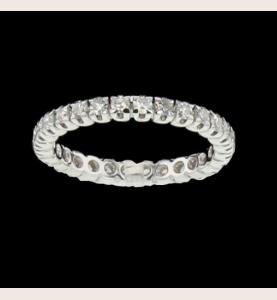 Eternity Ring Gold grau 28 Diamanten