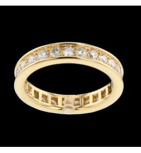 Or jaune 25 diamants 1.50 carats