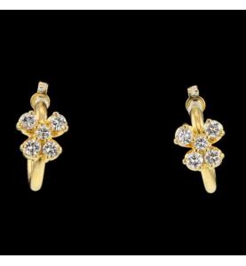 Créole Papillon Or Jaune Diamants