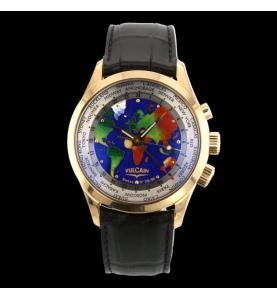 Vulcain Cloisonne World GMT Alarm