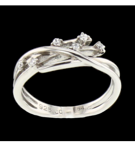 Ring Links silver 6 stones