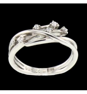 Ring Silber 6 Steine