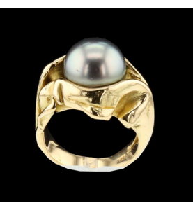 Yellow Gold Ring Pearl Gilbert Albert