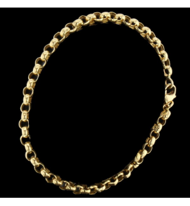 Armband gold gelb Masche Kugel