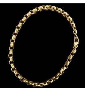 Bracelet or jaune maille boule