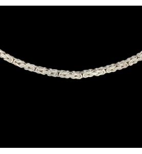 Royal Silver Mesh Necklace 925