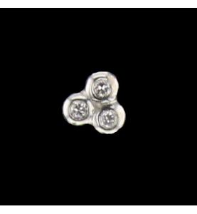 Boucles d'oreilles en or gris diamants