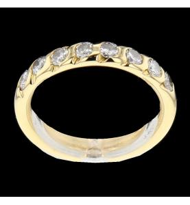 Bague or jaune diamants 0.80 carats