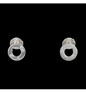 Boucles d'oreilles Dinh Van Cible diamants