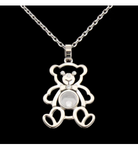 Necklace CHOPARD Happy Bear White Gold 750.
