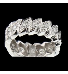 Bague or gris diamants 0.80 carats