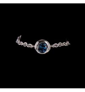 Création 0.23 Cts Diamant bleu