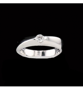 Solitaire Or gris 0.15 carats