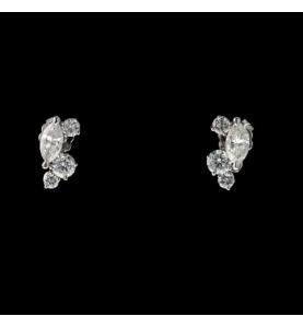 Creation GBT Boucles d ´oreilles Diamant Navette