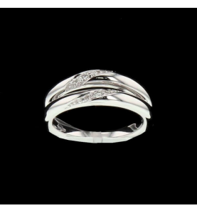 Or gris 2 x 6 Diamants