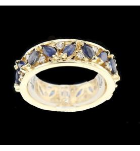 16 Saphire und 16 Diamanten