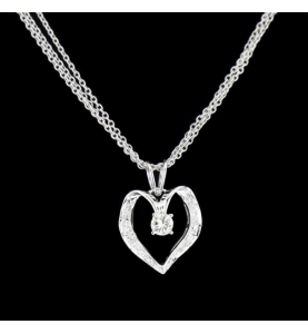 Herz Gold Grau Diamanten 0.25 Karat