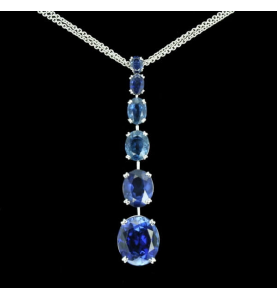 Sapphire Oval Necklace