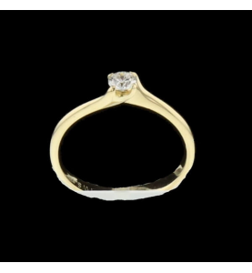 Solitaire Yellow Gold 0.20 Carats