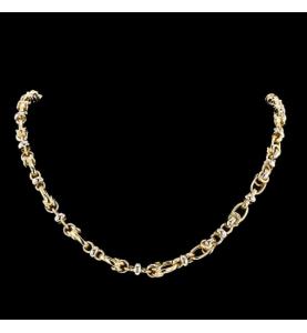 Gold necklace 750 fancy mesh