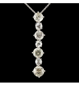 Création Pendentif 7 Diamants 4.95 Carats