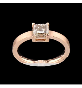 Ring Rose Gold Diamond Princess