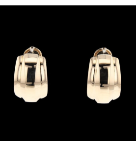 Boucles d'oreilles Chopard or rose 750 / 18 carats