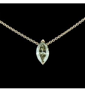 Création GBT Collier Solitaire Marquise 0.92 Carats