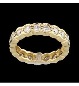 Eternity Ring Gelbgold 19 Diamanten