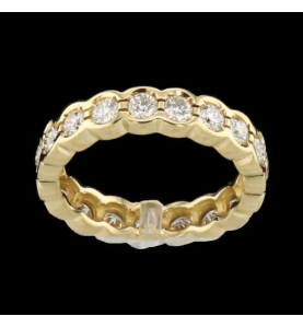 Eternity Ring Yellow Gold 19 Diamonds
