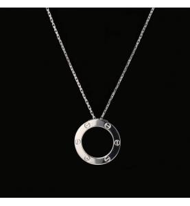 Collier pendentif Love de Cartier or gris