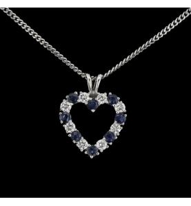Diamant Halskette und Saphire