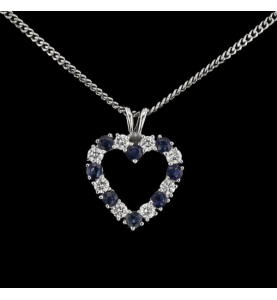 Diamond necklace and sapphires