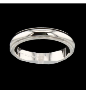 Tiffany Ring & Co Millegrains Platin 950